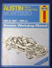 Haynes Owners Workshop Manual Austin Montego 2.0 1984 -1987 1994cc (1712)