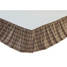 Wyatt 100% Cotton Queen Size Bed Skirt,VHC, Dust Ruffle for Wyatt Lodge Quilt