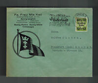 1939 Danzig Advertising Cover to Germany Post War