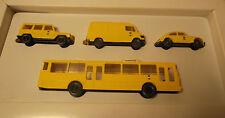 4x WIKING H0 Set vehículos de correos del Museo TIENDA PUBLICIDAD 1991