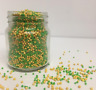 Green & Gold 100s & 1000s Sprinkles Cupcake Decorations cupcakes