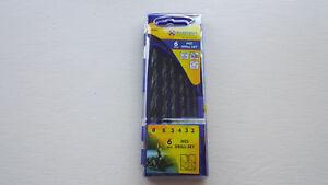 Marksman 6PCS HSS Drill Set Metal Wood Plastic 2MM 3MM 4MM 5MM 6MM 8MM