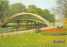 B86939 the suspension bridge river great ouse bedford   uk