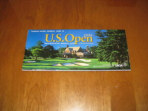 2006 US OPEN GOLF PAIRING GUIDE INFO GUIDE U.S. USGA Sunday June 18 Finals