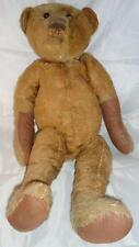 "Vtg German Teddy Bear Large 17"" Hump Back Mohair Center Seam Jointed Must See"