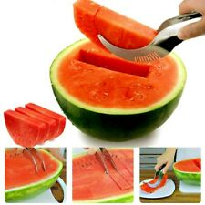 Stainless Steel Watermelon Slicer Fruit Knife Cutter Melon Cantaloupe  Cut Tool
