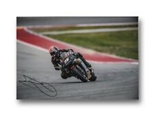 Johann ZARCO main signé 12X8 Photo Tech 3 Yamaha MotoGP 2018.