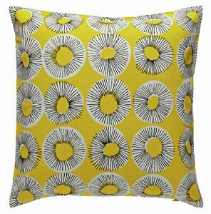 Evelyn 45cm x 45cm Patterned Cushion in Yellow