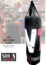 BOXING BAG 3ft MMA/Kickboxing Bag BLACK/RED Home Training  Bag Sold Unfilled