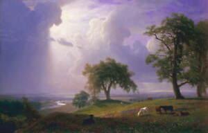 Albert Bierstadt California Spring Poster Reproduction Giclee Canvas Print