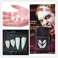 4pcs Vampire Werewolf Fake Teeth Zombie Dress Deluxe Fangs Scarecrow  Fancy