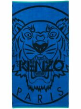 Kenzo Tiger Logo Blue Black Beach Towel