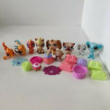 Littlest Pet Shop Lot Of 9 With Accesories, LPS Hasbro, Fish Dog Horse etc