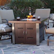 Outdoor Fire Pit Propane Fireplace Heater Patio Furniture Backyard Gas Deck New