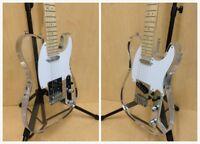 Haze HSE-218P Transparent Acrylic TC Electric Guitar w/Show LED Lights+Free Bag