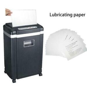 12pcs Shredder Oil Lubricant Sheets Blade Sharpening Paper Office Equipment