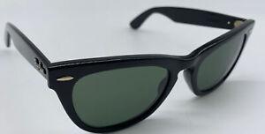 RARE Vintage Laramie Ray Ban Sunglasses B&L Black Bausch & Lomb Ebony