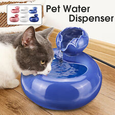 Pet Dog Cat Automatic Water Dispenser Fountain Feeder Bowl Drinking