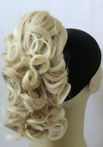 NewCurly Synthetic Black Brown Blonde ClawClip Ponytail HairPiece Extension UPDO
