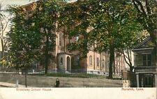 A View Of The Broadway School House, Norwich  Connecticut CT 1919