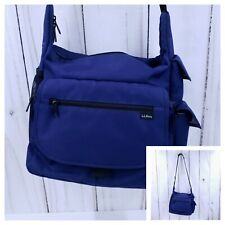 LL Bean Travel / Messenger  / Carry On  Over Shoulder Bag Blue - Nice Condition