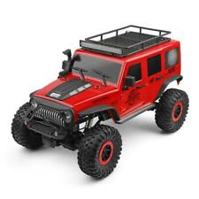 1:10 RC Electric Crawler 4WD Car Red Jeep Wrangler Outdoor w/ Rubber Tire NEW