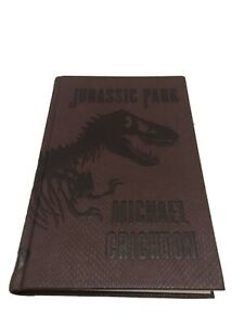 Jurassic Park by Michael Crichton New Deluxe Scaly Dinosaur Skin Hardcover Book