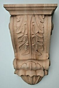 """Large Hand Carved Solid Oak wood Classical Style Corbel / Bracket, 14""""H x 8""""W"""