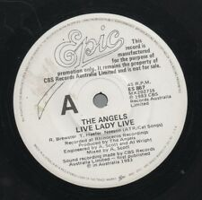"""THE ANGELS   Rare 1983 Australian Promo Only 7"""" OOP Rock Single """"Live Lady Live"""""""