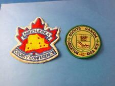 BOY SCOUTS CANADA PATCHES LOT 2 MIDDLESEX COUNTRY CONFERENCE CARLETON AREA NCR