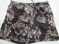 Nat Nast Black Swim Trunks Swim Shorts Mens Size L Tropical Island Print Board