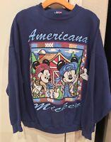 VINTAGE Mickey Mouse Disney American Mickey Crew Sweatshirt Jerry Leigh 3X OSFA