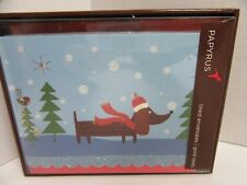 Papyrus Christmas Cards Dachshund Dog Holiday 1 Box 12 Cards Envelopes & Seals