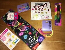 Justice Claire's Sock Jewelry Earrings Lip Gloss Ring Sticker Lot