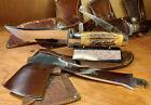 CASE XX STAG KNIFE HATCHET COMBO SET VINTAGE POCKET KNIFE USED