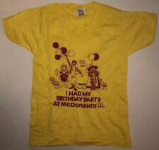 Vintage 80s McDonalds Birthday Party Yellow T-Shirt Childs 2-4 Screen Stars USA