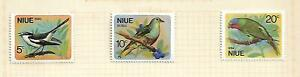 Niue 1971 Birds set of 3 Mint Hinged on Album page