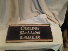 "Vintage Bar Hand Towel Carling Black Label Lager Collectible Towel~18"" X 8"""