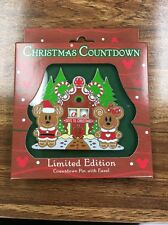 CHRISTMAS COUNTDOWN Pin LE2000 Disney Mickey Minnie Gingerbread House Spinner