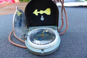 Kompass  mit Ledertasche Fluid Bezard Lufft