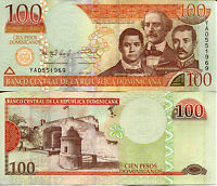 DOMINICAN REPUBLIC 100 Pesos Oro Banknote World Money Currency p184b BILL Note