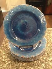 Pier 1 One imports 8 pc set Melamine Carmelo Ocean Salad Plates Dishes - New