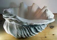 Giant Clam Shell Hand Sculpture Ornament 70CM WIDE Garden Bathroom Home Decor