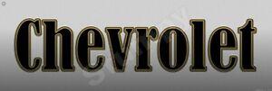 "Chevrolet   Metal Sign 6"" x 18"""
