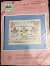 Rocking Horse Birth Record Counted Cross Stitch Kit 53517 From the Heart