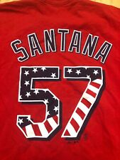 Johan Santana New York Mets VINTAGE Majestic Stars and Stripes MLB Shirt