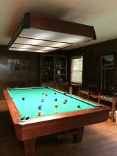 9' Diamond Professional Pool Table, Light and Chairs