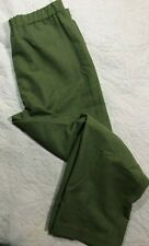 XL Orvis Womens Wool Pants!  Brighter Green Donegal   Elastic Waist  Lined