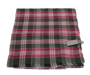 NWT Authentic Tom Ford Scarf Pink and Green Plaid #Tf513