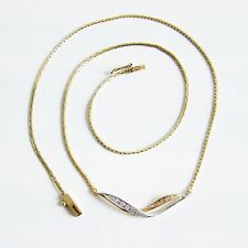 Halskette Gold 585er Collier Brillant 14 kt. Weißgold Goldschmuck Damen Diamant
